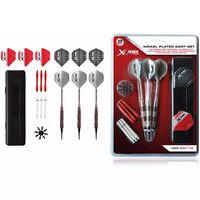 XQmax Darts Set de dardos niquelados 30 pzas 18 g QD7000690