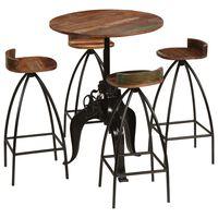 vidaXL Conjunto de muebles de bar 5 piezas madera maciza reciclada