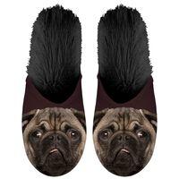 Plenty Gifts Zapatillas de felpa de animales pug negro № 39-42 42541