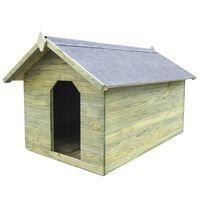 vidaXL Casa de perros de jardín tejado abierto madera pino impregnada