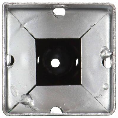 vidaXL Picas de tierra 2 uds acero galvanizado plateado 10x10x57 cm