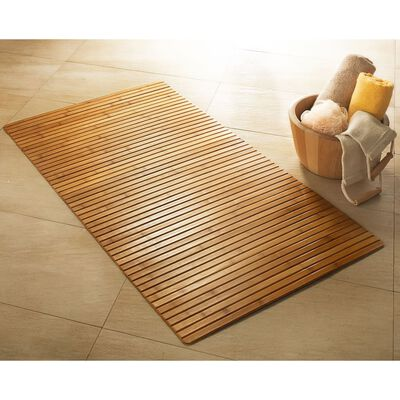 Kleine Wolke Alfombra para baño Bambus marrón 60x115 cm