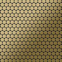 ALLOY Penny-Ti-GB Mosaico de metal sólido Titanio oro