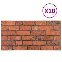 vidaXL Paneles de pared 3D diseño ladrillo terracota 10 pzas EPS