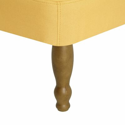 vidaXL Sillones franceses 2 unidades tela amarillos