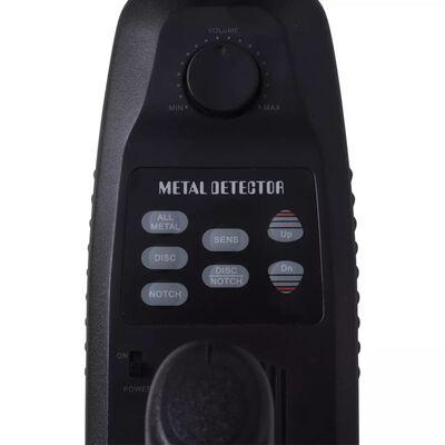 vidaXL Detector de metales 20 cm búsqueda 300 cm pantalla LCD