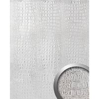 Wallface 13520-sa Panel De Pared Aspecto Piel De Cocodrilo Plata