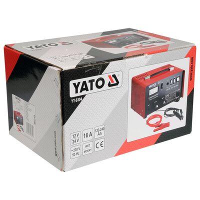 YATO Cargador de batería 12/24 V 16 A 230 V
