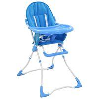 vidaXL Trona de bebé azul y blanco