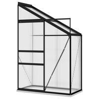 vidaXL Invernadero de aluminio gris antracita 1,44 m³