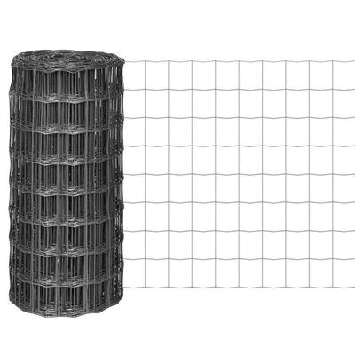 vidaXL Euro Valla de acero gris 10x0,8 m
