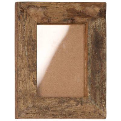 vidaXL Marcos de fotos 2 uds madera maciza reciclada y vidrio 23x28 cm