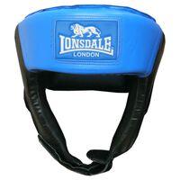 LONSDALE Casco de boxeo abierto azul tamaño L