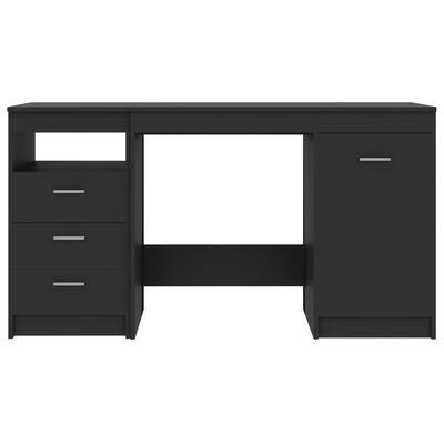vidaXL Escritorio de aglomerado gris 140x50x76 cm