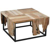 Ambiance Mesa auxiliar de madera de teca 65x65x35 cm