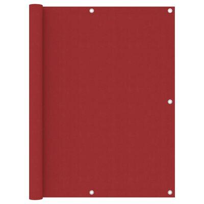 vidaXL Toldo para balcón de tela oxford rojo 120x500 cm