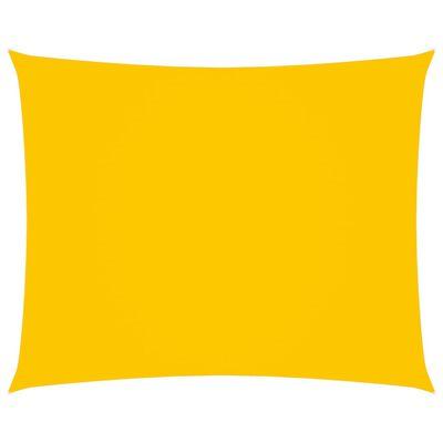 vidaXL Toldo de vela rectangular de tela oxford amarillo 3x4,5 m