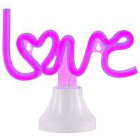 Wofi Lámpara de mesa de neón Love morado