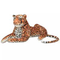 vidaXL Leopardo de peluche marrón XXL