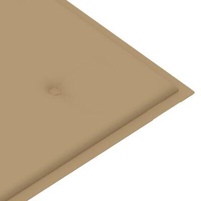 vidaXL Cojín de banco de jardín beige 100x50x4 cm