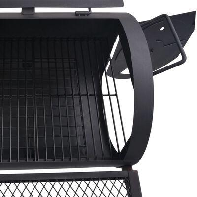 vidaXL Barbacoa ahumador fuerte de carbón estante inferior negro XXL