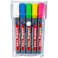 edding Marcador fluorescente para pizarra 5 piezas multicolor 725