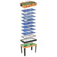 vidaXL Mesa multijuegos 15 en 1 color arce 121x61x82 cm