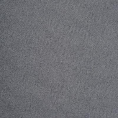 vidaXL Sofá chesterfield forma de L de terciopelo 199x142x72 cm gris