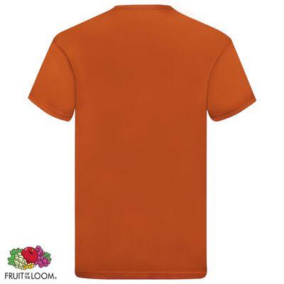 Fruit of the Loom Camisetas originales 5 uds naranja XL algodón