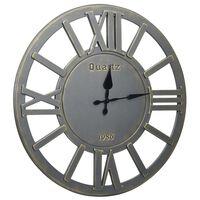 vidaXL Reloj de pared de MDF gris 60 cm