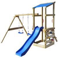 vidaXL Parque Infantil con escalera, tobogán y columpios 290x260x235cm