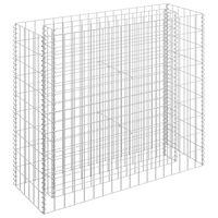 vidaXL Arriate de gaviones de acero galvanizado 90x30x90 cm