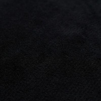 vidaXL Cojines de terciopelo negro 45x45 cm 2 unidades