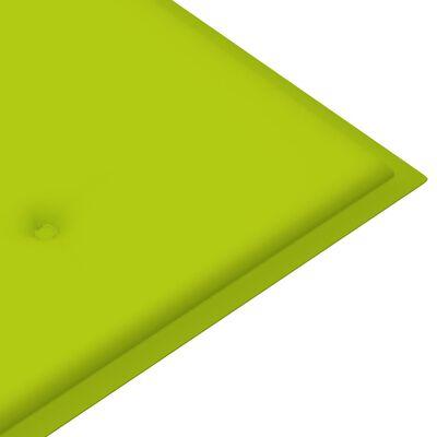 vidaXL Cojín para banco de jardín tela verde brillante 200x50x4 cm