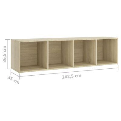 vidaXL Muebles para TV 3 uds aglomerado roble Sonoma 142,5x35x36,5 cm