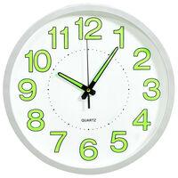 vidaXL Reloj de pared luminoso blanco 30 cm