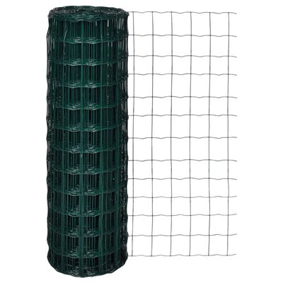 vidaXL Set de euro valla acero verde 10x1,2 m
