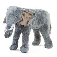 CHILDHOME Elefante de pie gris 77x33x55 cm