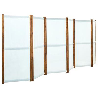 vidaXL Biombo divisor de 6 paneles blanco crema 420x170 cm