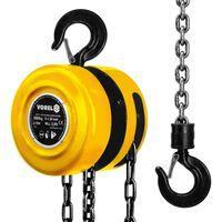 VOREL Polea de cadena 3000 kg acero amarilla 80753