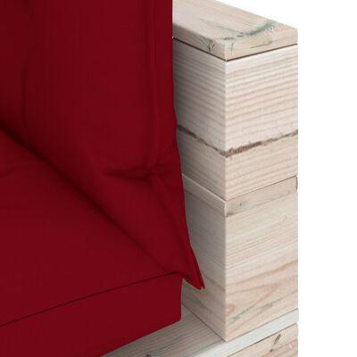vidaXL Juego de muebles de jardín de palets 6 pzas cojines madera pino