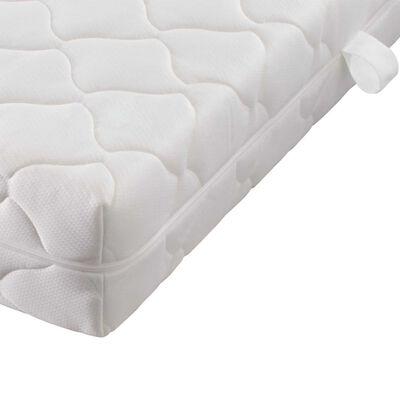vidaXL Cama con colchón cuero sintético blanco 90x200 cm