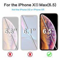 Vidrio protector de pantalla para iPhone XS Max vidrio templado - negr