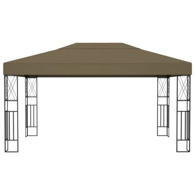 vidaXL Cenador de tela gris taupé 3x4 m