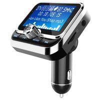 Transmisor FM Bluetooth y cargador de coche con doble USB de 2,4 V