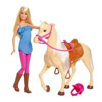 Barbie Muñeca y caballo
