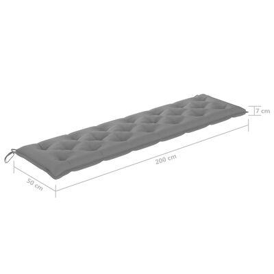 vidaXL Cojín para balancín tela gris 200 cm