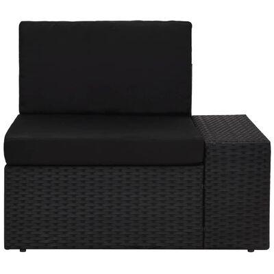vidaXL Juego de muebles de jardín 3 piezas ratán sintético negro
