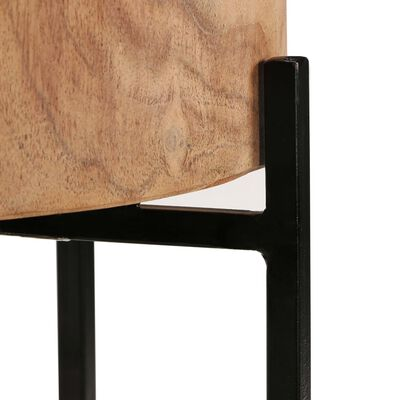 vidaXL Mesa auxiliar 2 unidades madera maciza de acacia