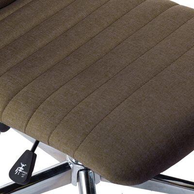 vidaXL Sillas de comedor 4 unidades tela marrón